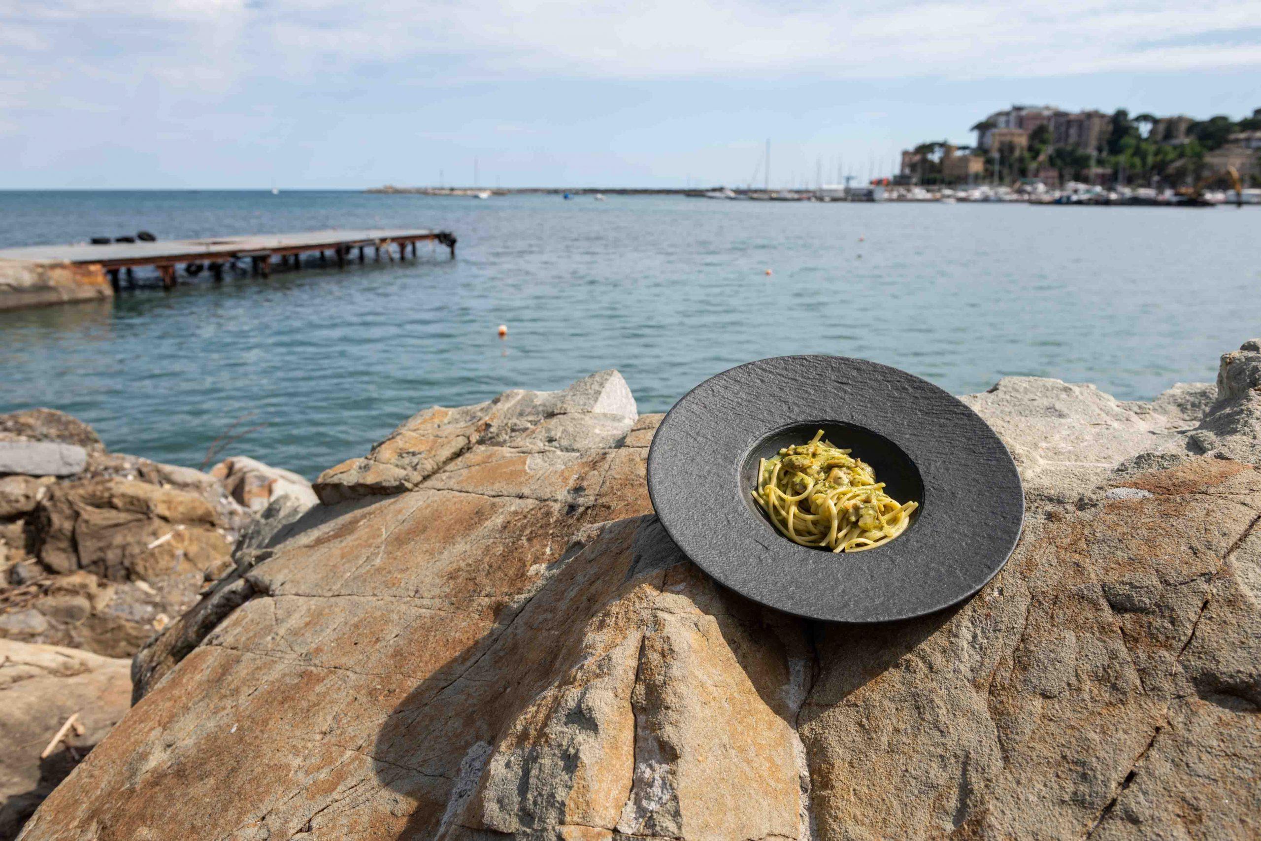 Spaghetti vongole Convivio Rapallo